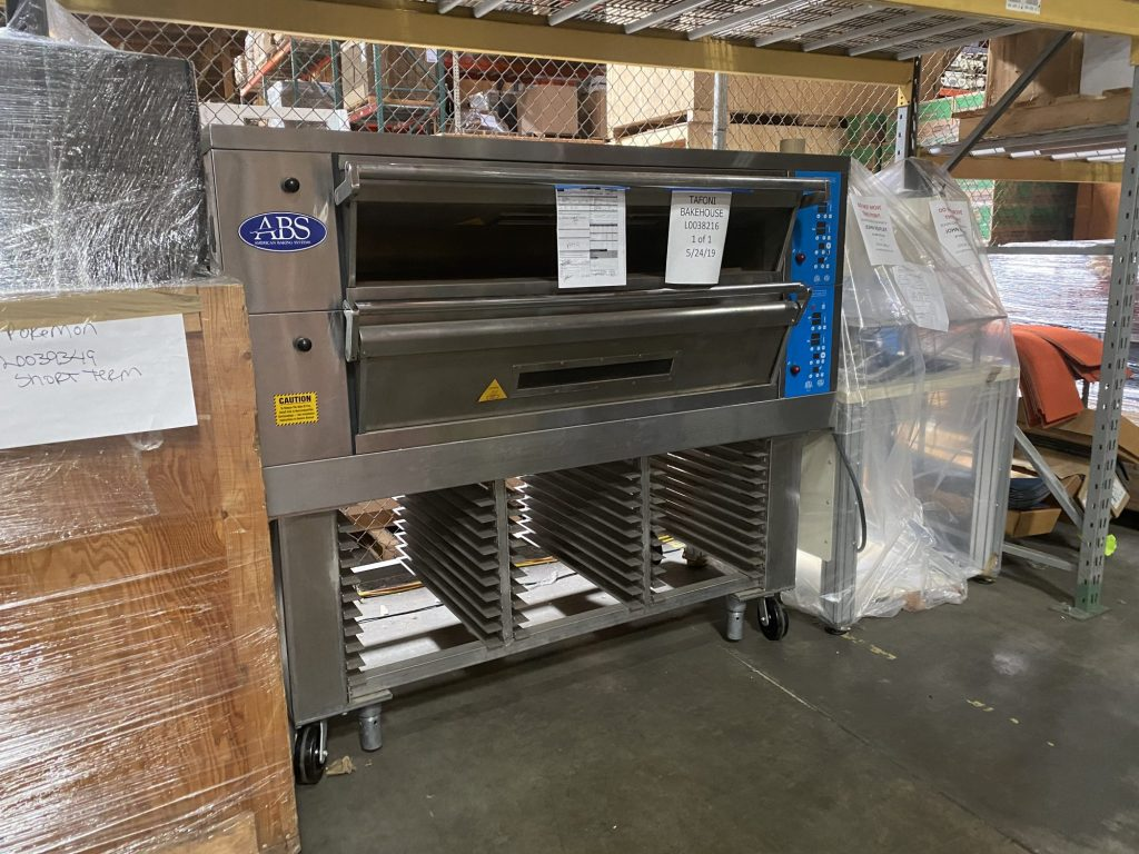 A commercial baking oven stored in the Lile Kent warehouse