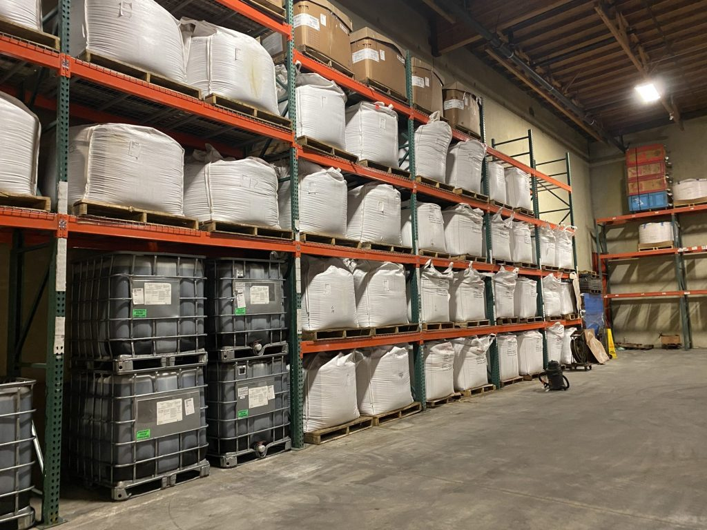Industrial Products stored in the Lile Tacoma Warehouse
