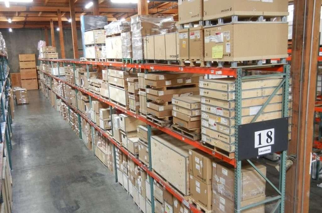 warehouse and storage racks