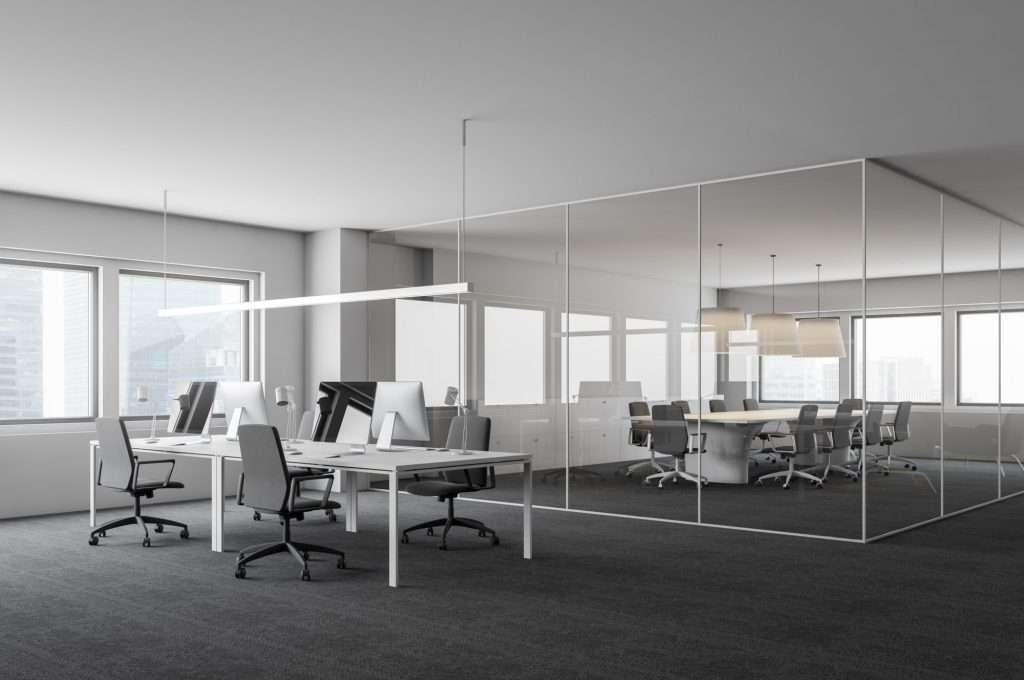 Clean modern office setting