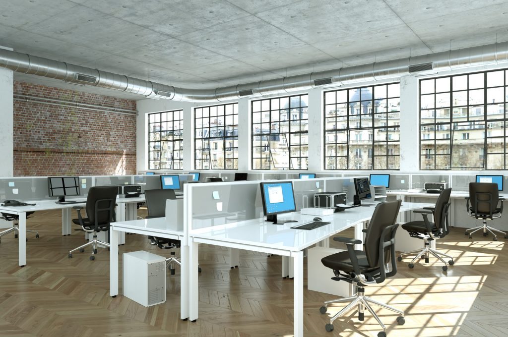 Office moving and installation of workstations